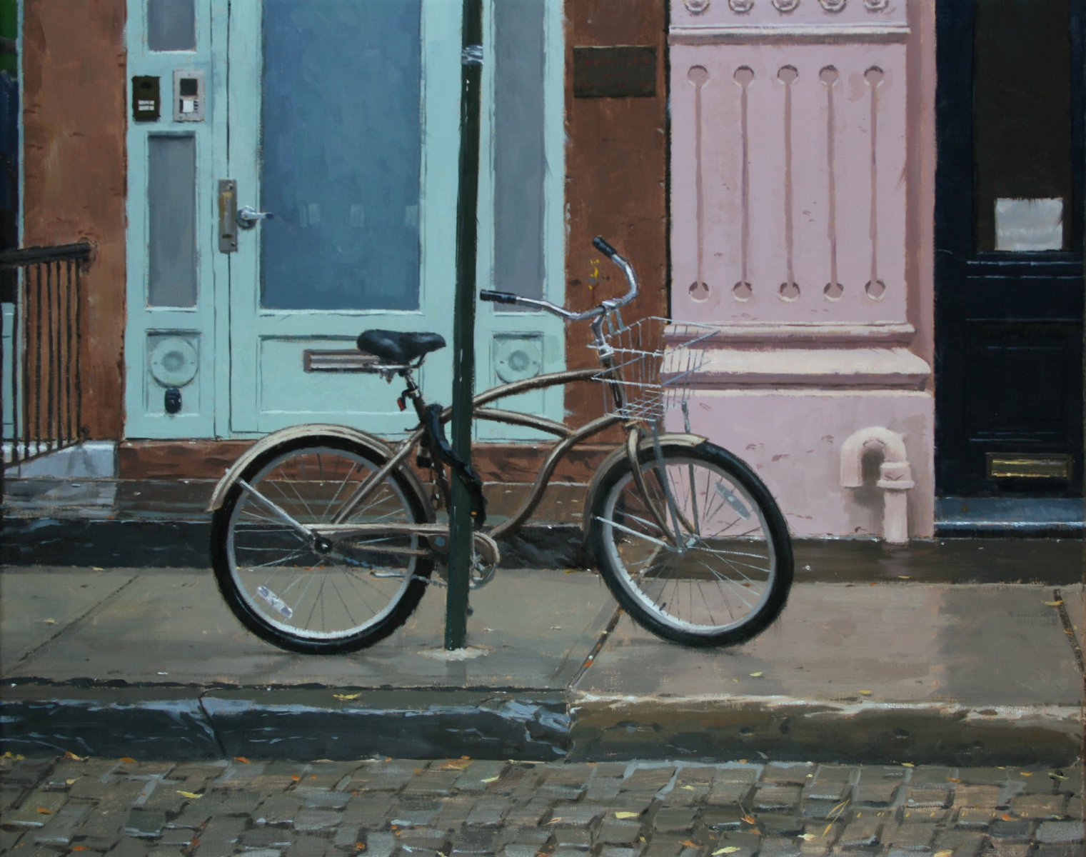 Bicycle in Rain - Vincent Giarrano