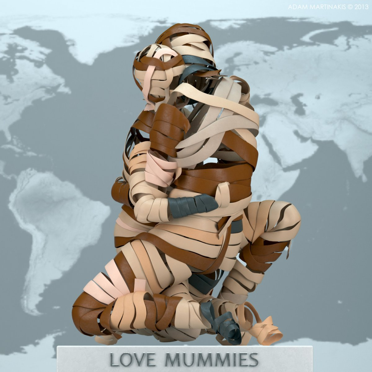It doens´t matter which skin Color you wear, everyone can become a Mummy! - LOVE MUMMIES - Adam Martinakis
