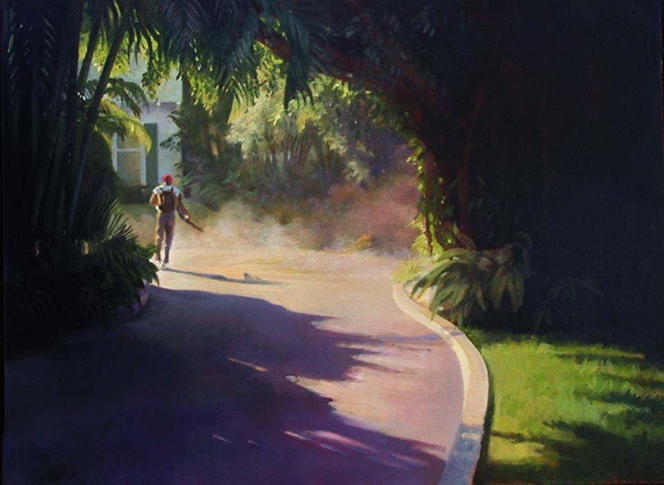The leaf blower - Nigel Van Wieck