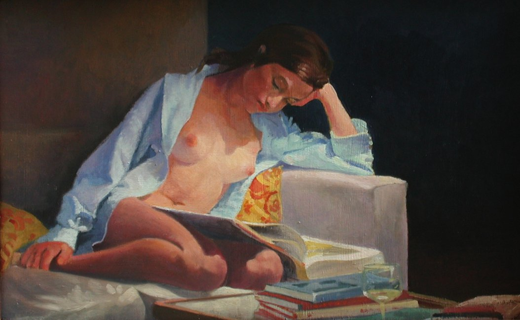 Nude reading - Nigel Van Wieck
