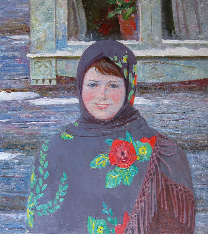 Veniamin Borisov (1935-2015). Country girl.