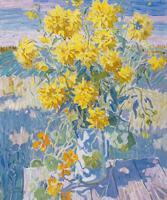 Boris Shamanov (1931-2008). September. Yellow flowers.