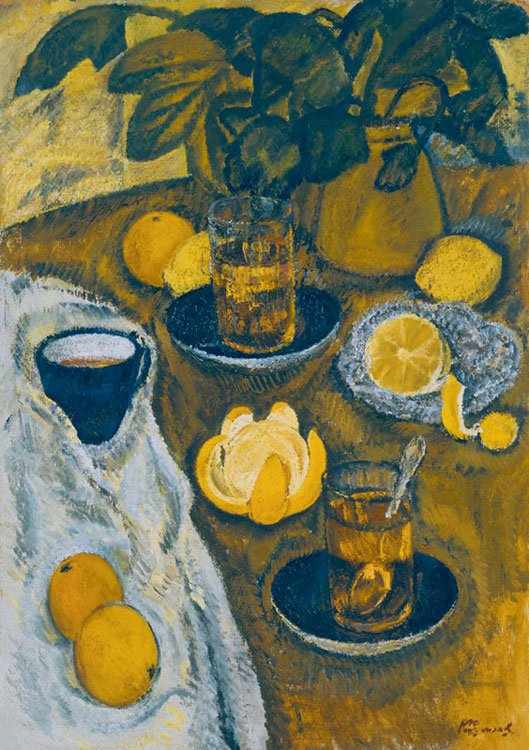 Kapitolina Rumiantseva (1925-2002). Still-life with oranges.