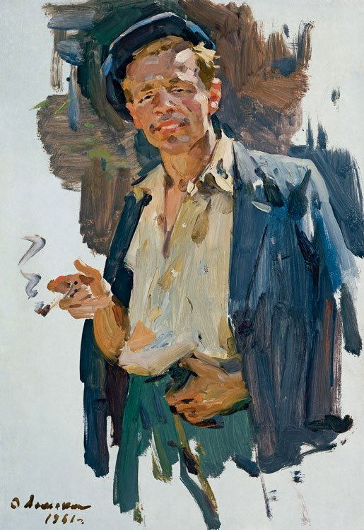 Oleg Lomakin (1924-2010). Smoking Man.