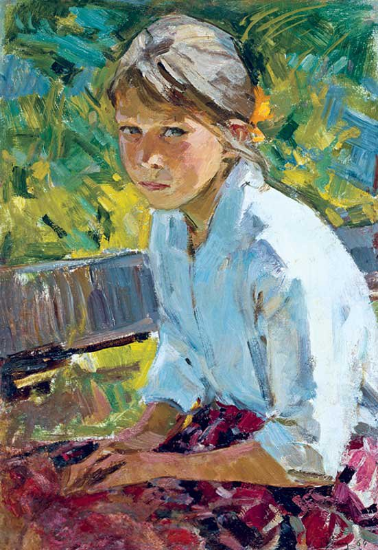 Maria Rudnitskaya (1916-1983). Girl in the Garden.
