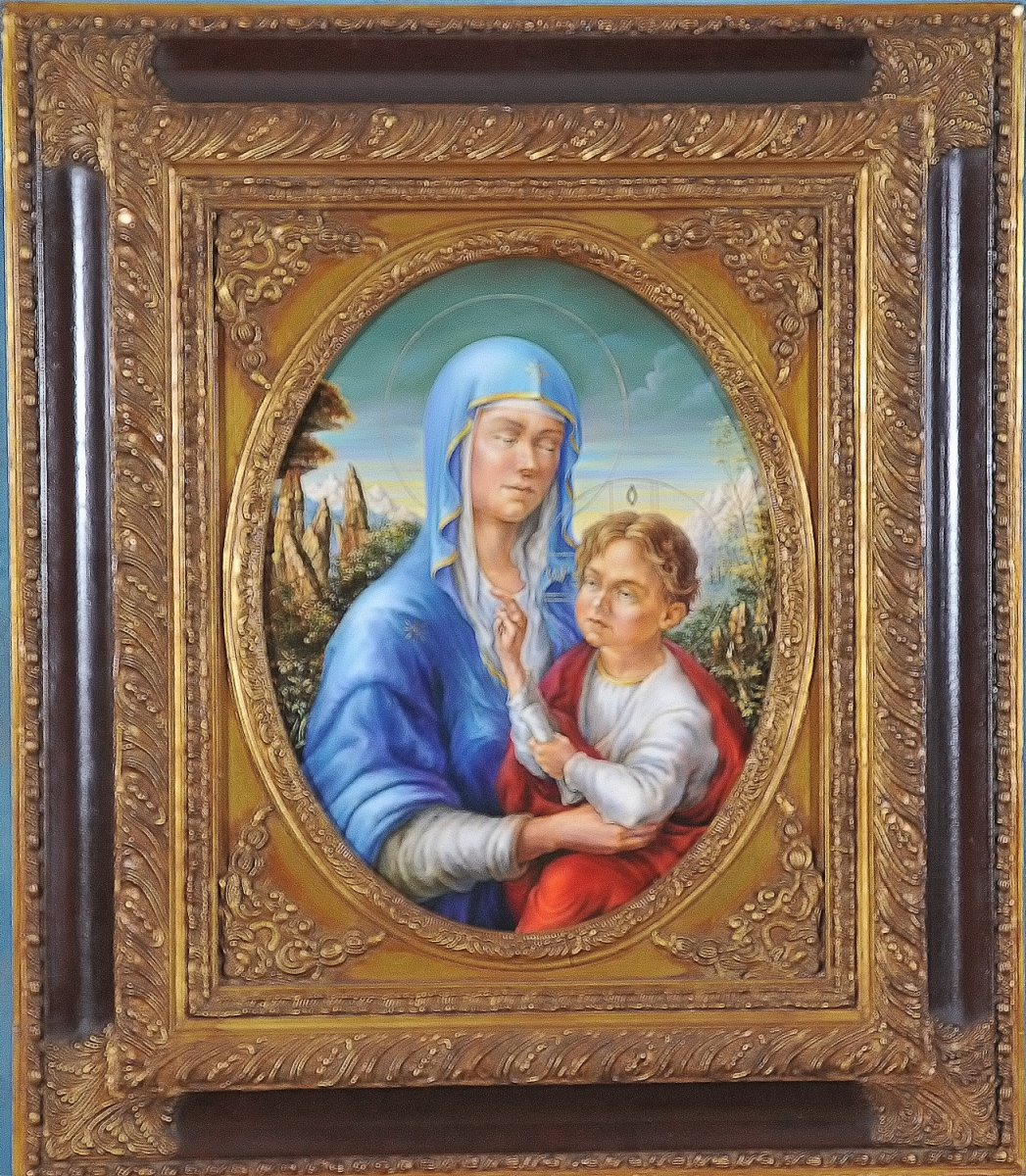 Madonna with Child (framed) painting 43,5cm x 34cm - Alexander Donskoi
