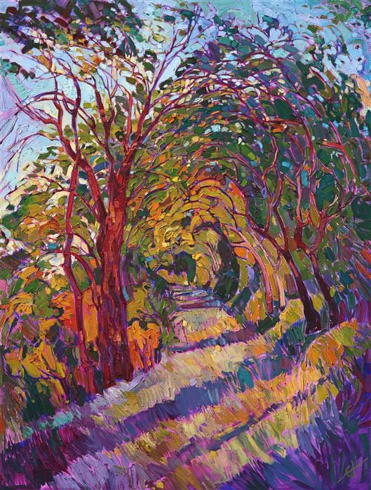 Path in the Oaks - Erin Hanson