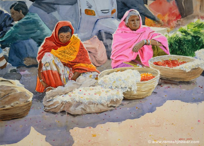 The Flower Sellers - Ramesh Jhawar