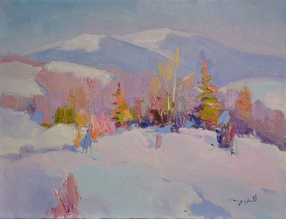 Snow in the mountains - Alexander Shandor