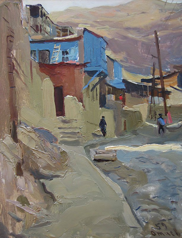 Victor Otiev (1935-1999). Tbilisi Old Town.