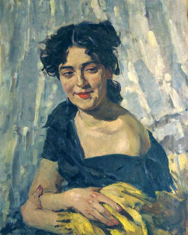 Portrait of Young Woman - Lev Russov