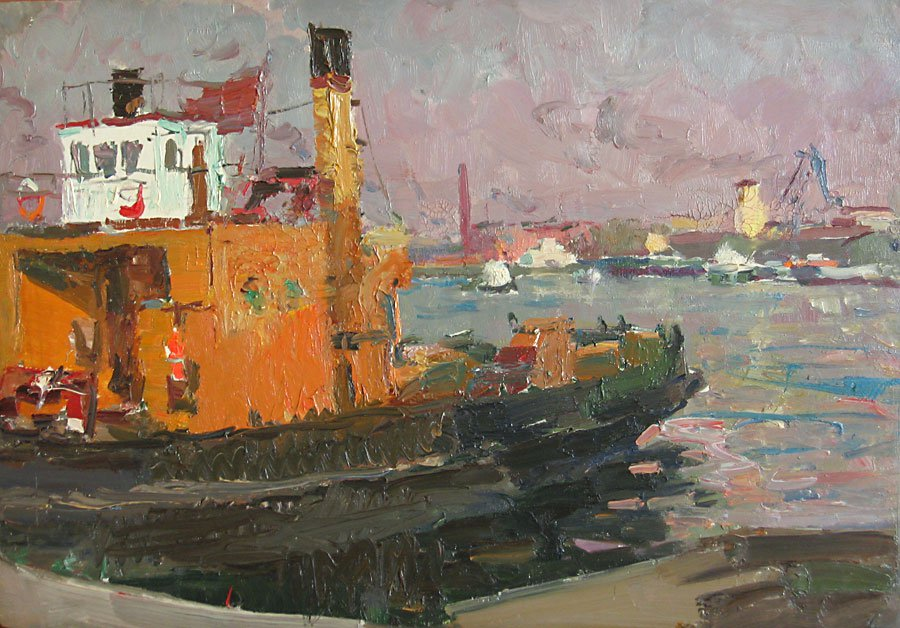 In the Sea Port - Vladimir Ovchinnikov