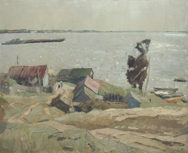 Windy Day on the Volga River - Vladimir Ovchinnikov