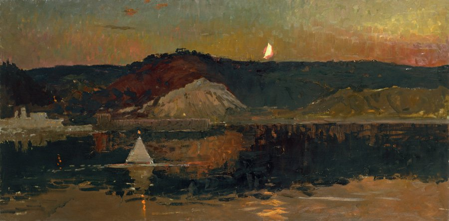 Evening on the Dnieper River - Vladimir Ovchinnikov