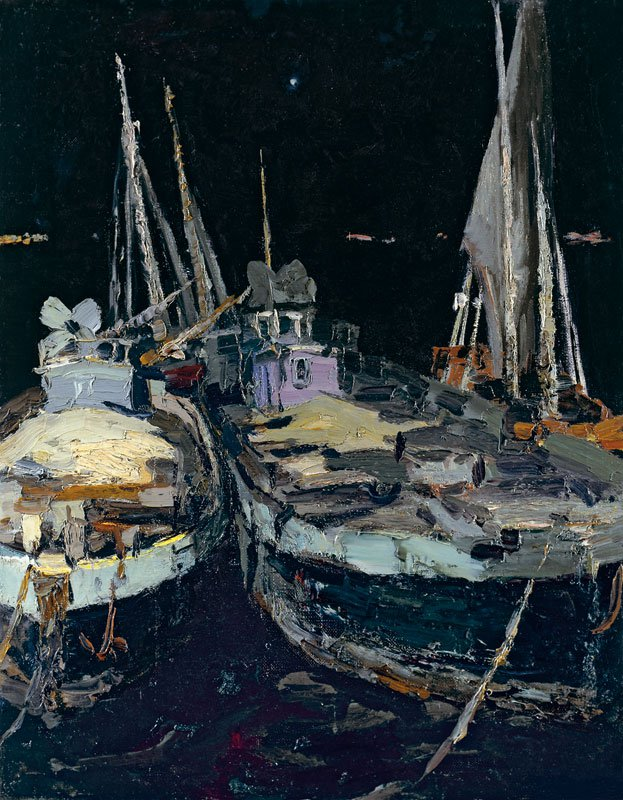 Boats at the Night - Vladimir Ovchinnikov