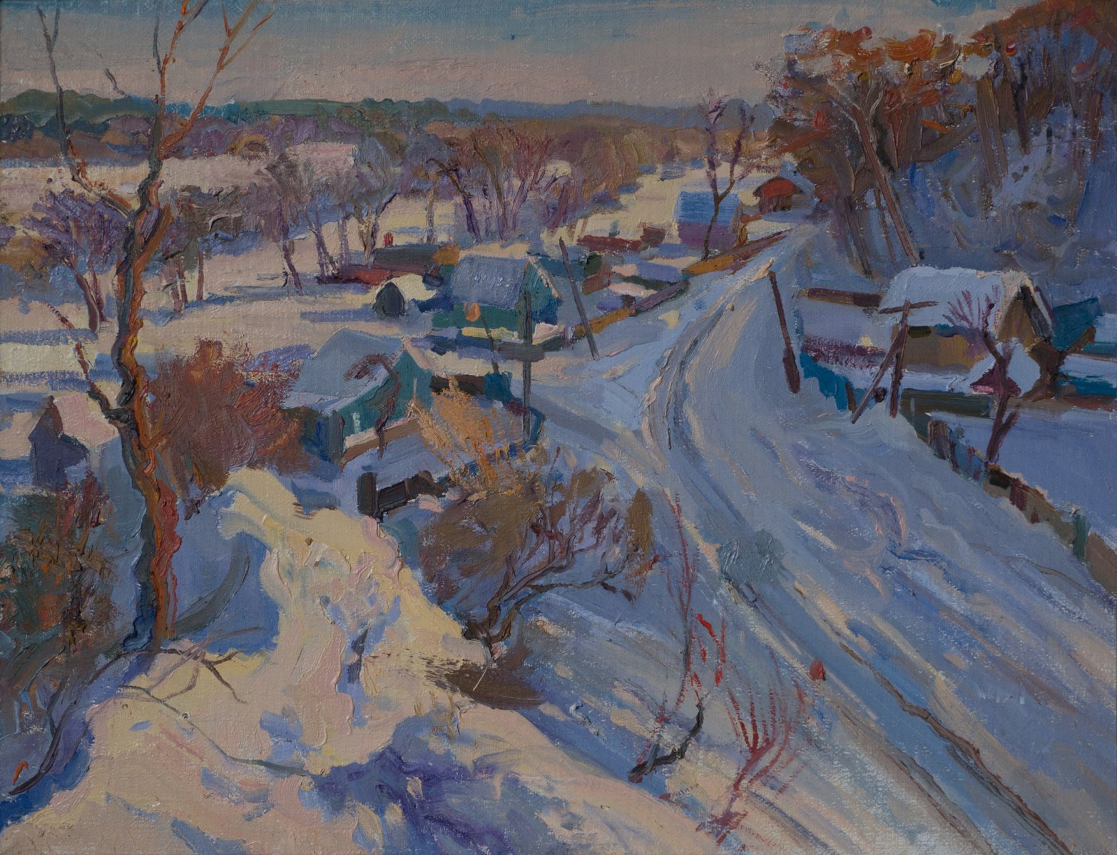 Winter in Sednev - Victor Onyshchenko
