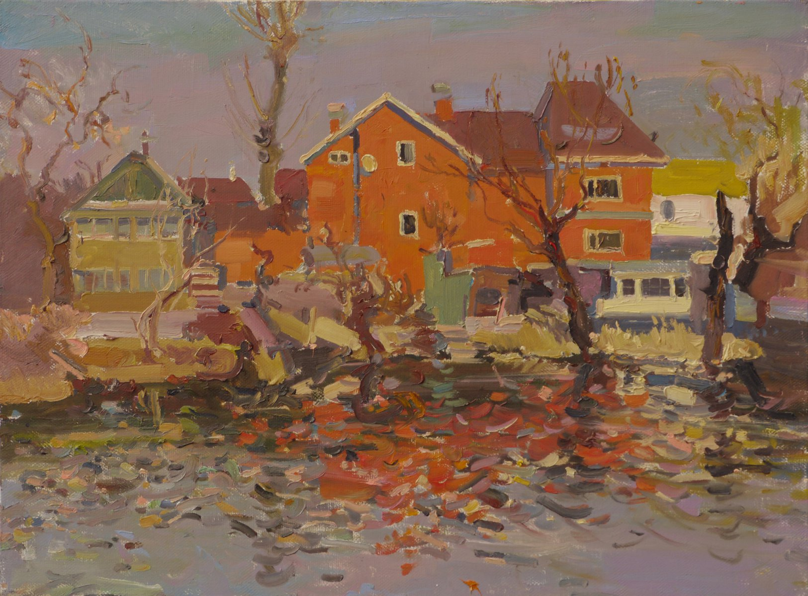Red buildings - Victor Onyshchenko