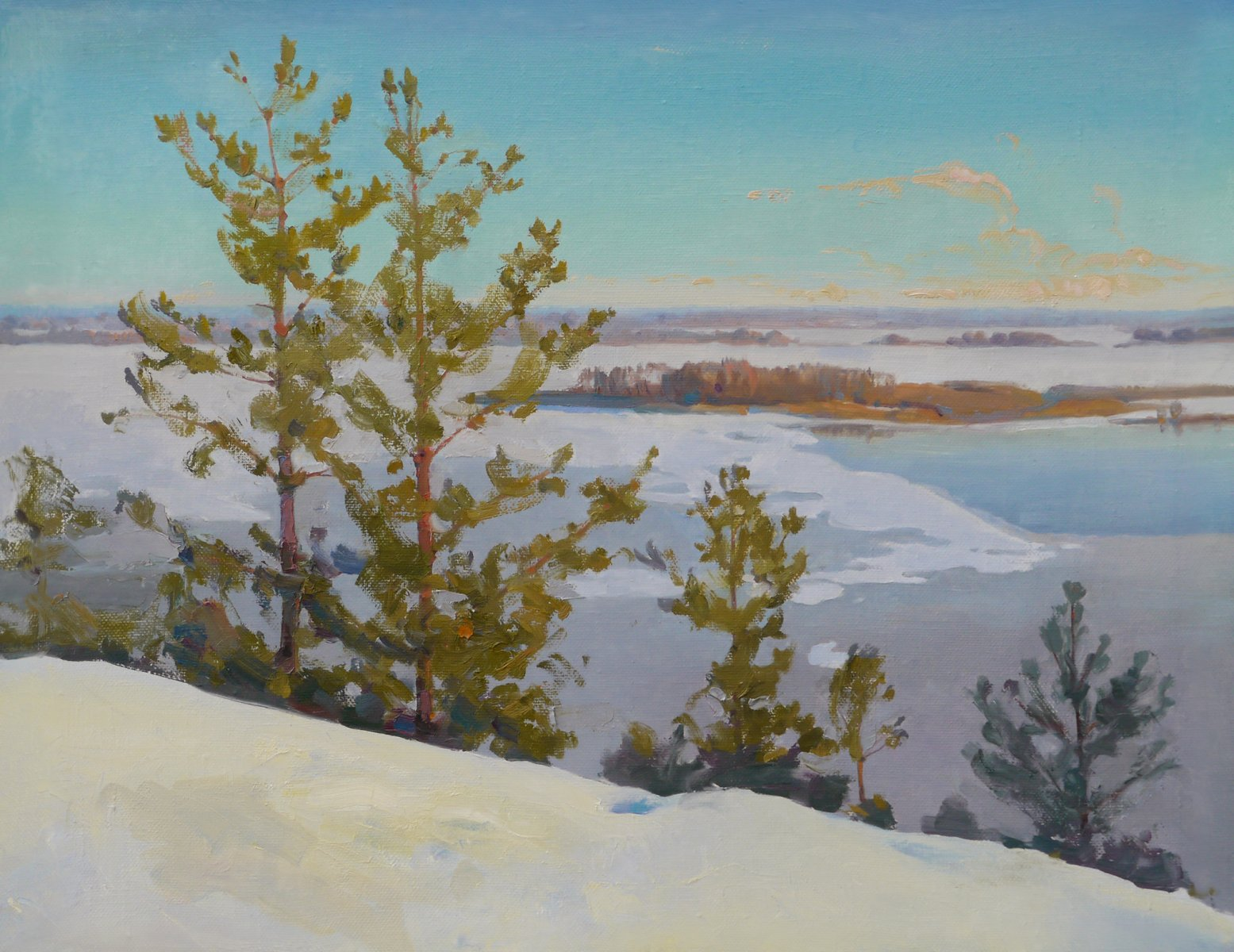 Pines over Dnieper - Victor Onyshchenko
