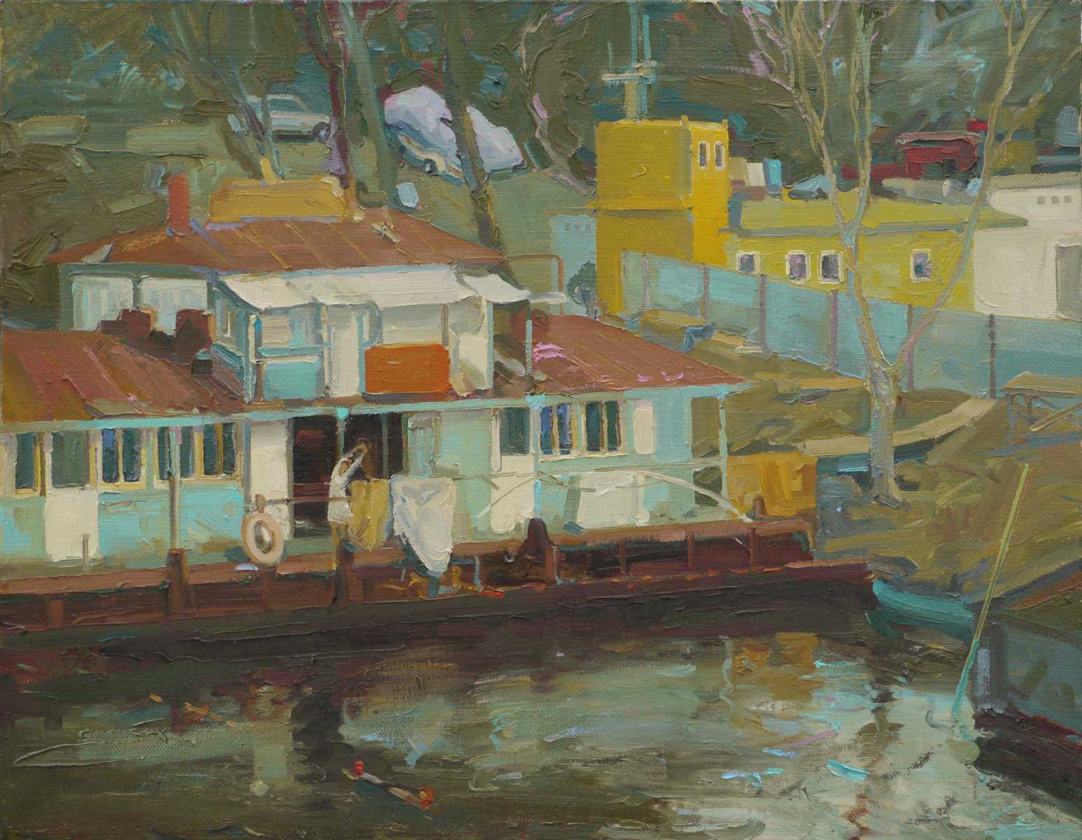 Morning in the floating house - Victor Onyshchenko