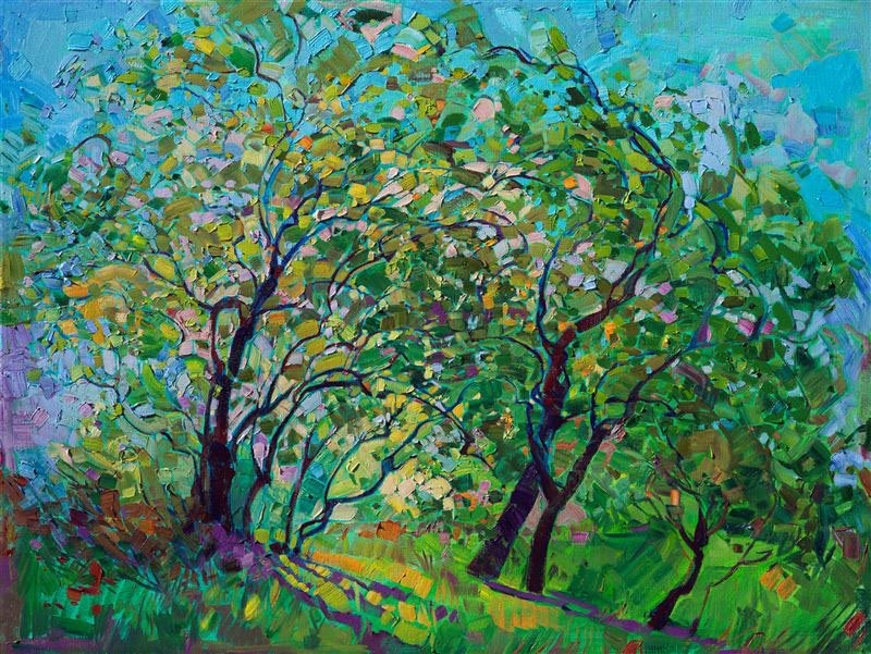 Oaks in Green - Erin Hanson