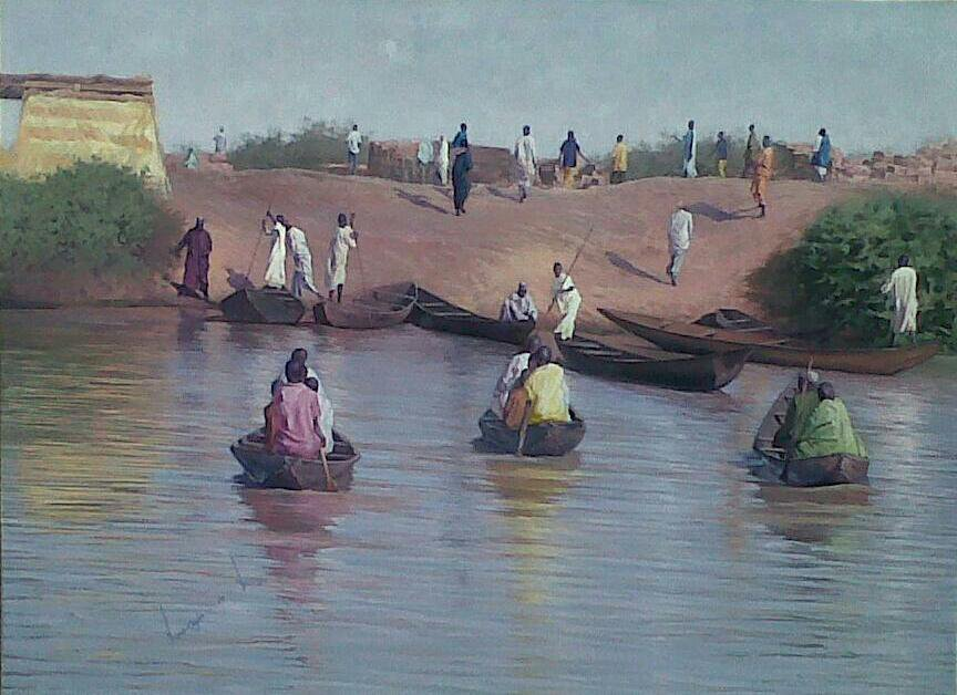 The river bank A day before Argungun Festival - Apooyin Mufutau